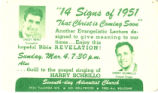 14 Signs of 1951 That Christ is Coming Soon